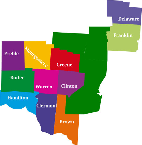 Different County Map