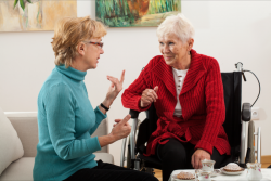 lady talking to patient